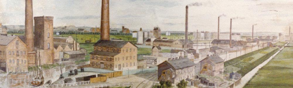Schiebenhöfergemälde des Veringkanals von 1909, Foto: Geschichtswerkstatt Wilhelmsburg & Hafen
