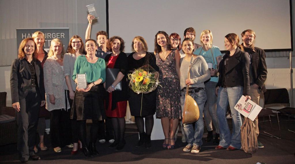 Gewinner und Jury der Hamburger Stadtteilkulturpreis 2014