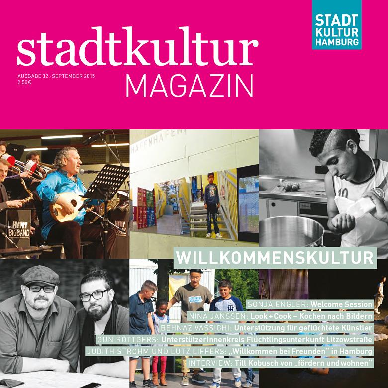 stadtkultur magazin Nr. 32: Willkommenskultur – Kulturarbeit mit Flüchtlingen