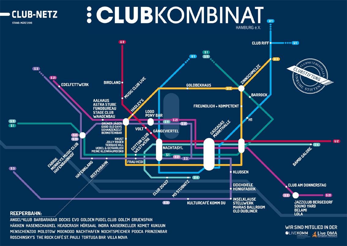 Der Clubnetz auf DIN A1