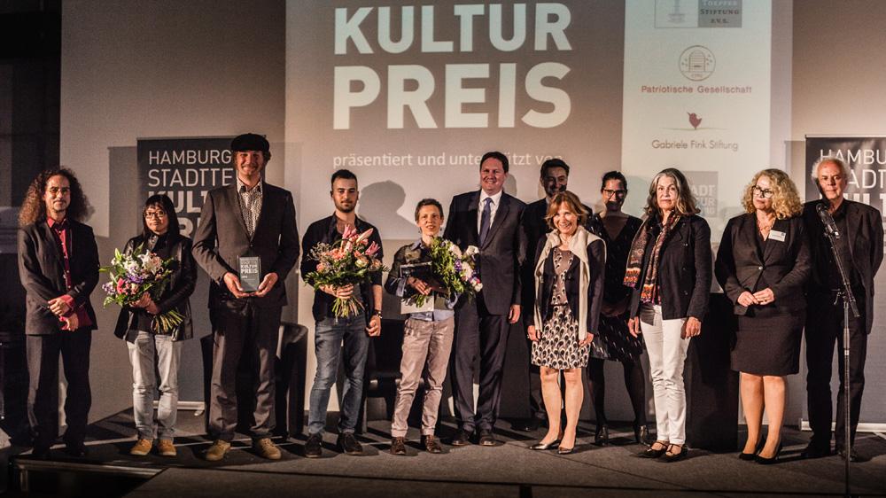 Gewinner und Preisstifter des Hamburger Stadtteilkulturpreis 2016, Foto: Jo larsson