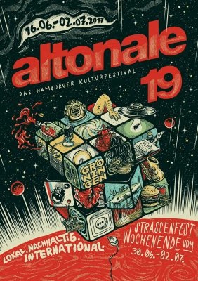 altonale Plakat 2017 von Sebastian Mättig