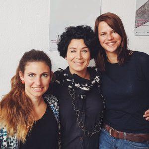 v.l.n.r.: Reinhild Marie Sickinger – Programmchefin, Andrea Rothaug – Geschäftsführerin, Susan Lindenhahn – Veranstaltungschefin