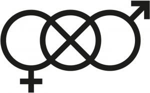 Unisex-Symbol von Pekka Piippo von Hahmo Design Oy