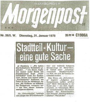 Morgenpost-Artikel vom 31. Januar 1978