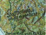 """Hamburgweite Plakataktion """"Mord an der Kultur vor Ort"""" 1992, Foto: Thomas Ricken"""