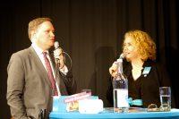 Geschäftsführerin Corinne Eichner im Talk mit Senator Dr. Carsten Brosda.