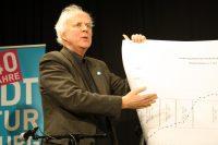 ... und erläutert die steigenden Zahlen der Unterstüzung für die Stadtteilkultur.