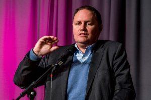 Dr. Carsten Brosda, Senator für Kultur und Medien, bei seiner Keynote, Foto: Miguel Ferraz
