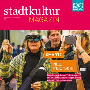 "Neu: stadtkultur magazin Nr. 45: 19. Ratschlag ""Smart? Nee: plietsch!"""