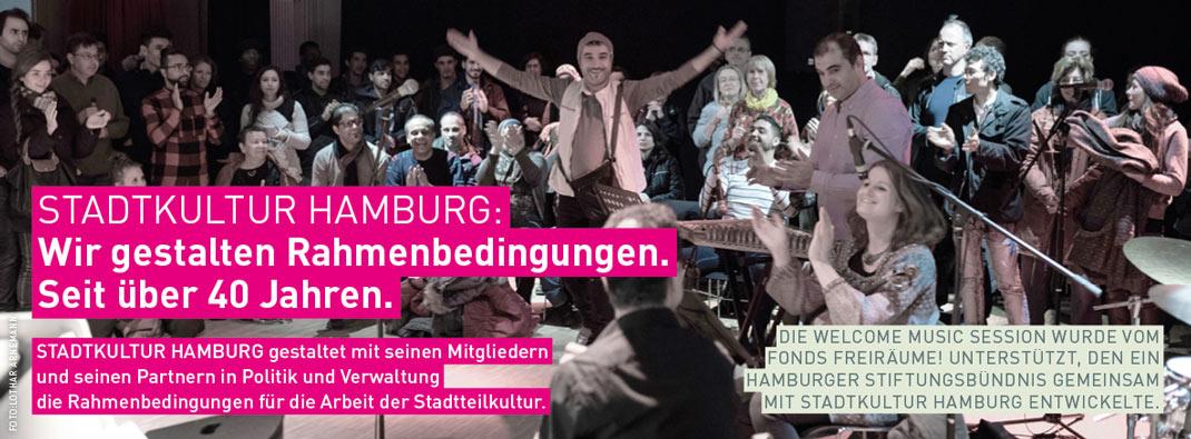 STADTKULTUR HAMBURG: Wir gestalten Rahmenbedingungen.